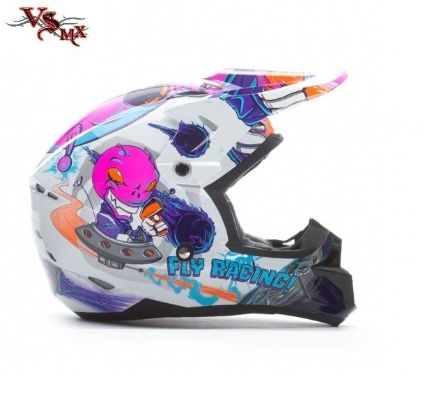 Fly Kinetic Youth Invasion Helmet Pink